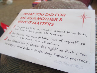 """What You Did For Me As A Mother & Why It Matters"" Postcard"