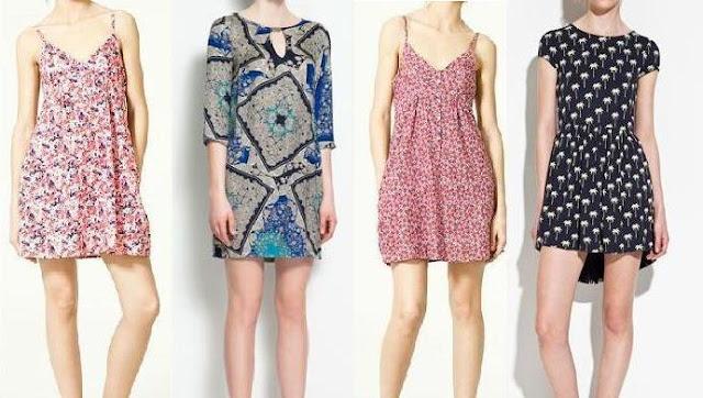 Vestidos sencillos y a la moda de zara