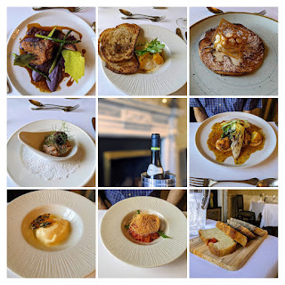 Collage of dinner items served at Ghan House Hotel in Carlingford Town Ireland