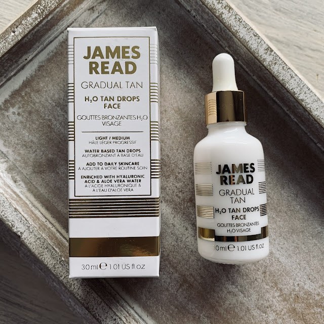 james read gotas autobronceadoras rostro