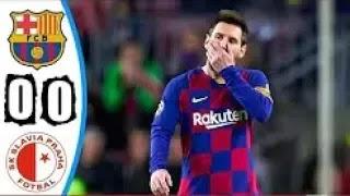 Barcelona vs Slavia Prague 0-0 All Goals And Match Highlights [MP4 & HD VIDEO]