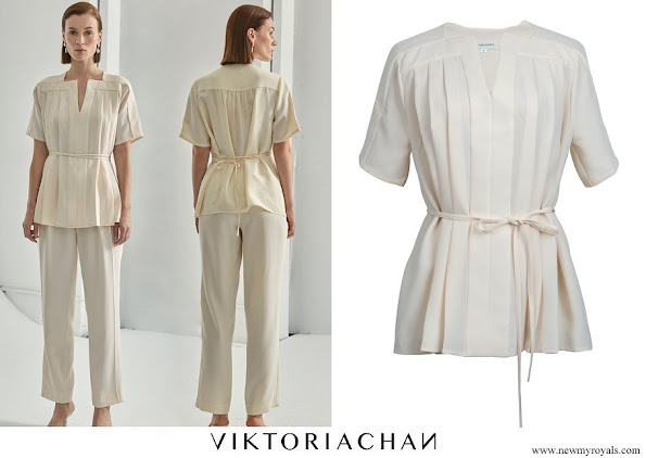 Princess Sofia wore VIKTORIA CHAN Allie Pleated Top