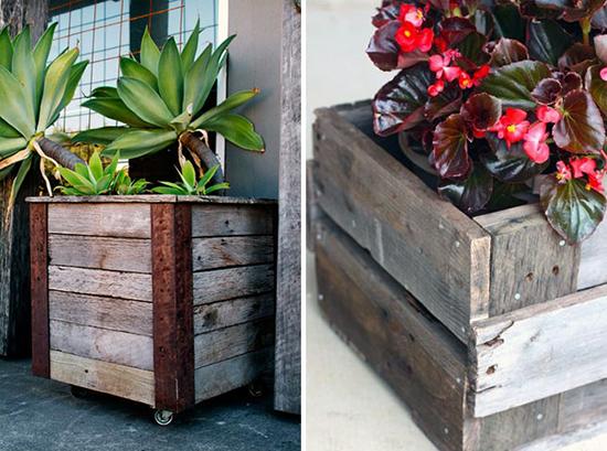 Desain pot kayu dari palet bekas