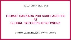 Thomas Sankara PhD Scholarships 2021 for Developing Countries