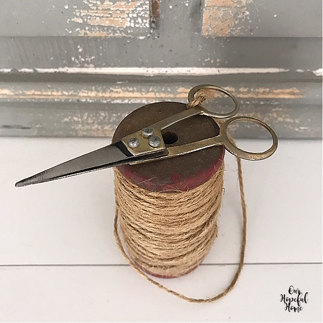 pointy vintage embroidery scissors twine spool