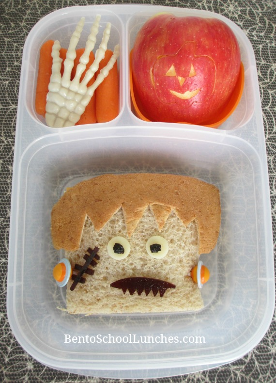 Frankenstein Halloween school lunch