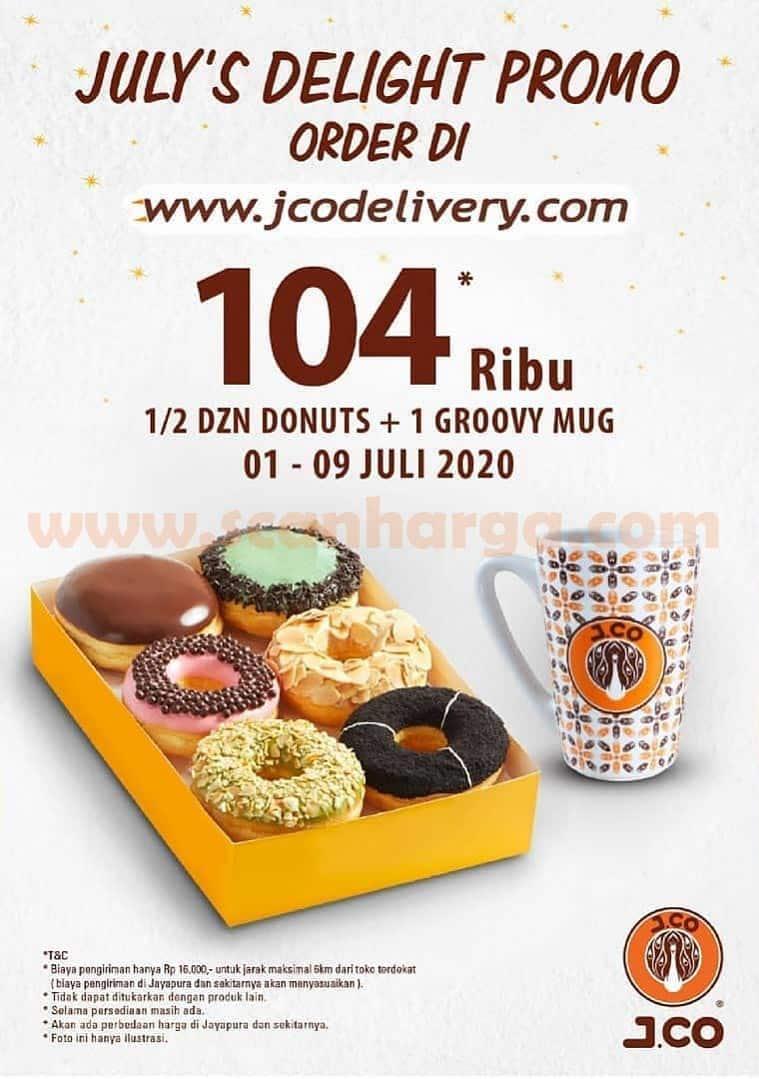 JCO Promo Paket 1/2 lusin donat favorit dan Groovy Mug JCO Hanya Rp 104.000 Periode 1 - 9 Juli 2020