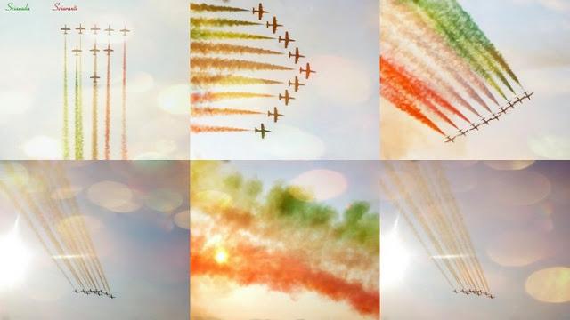 Frecce Tricolori nel cielo di Roma