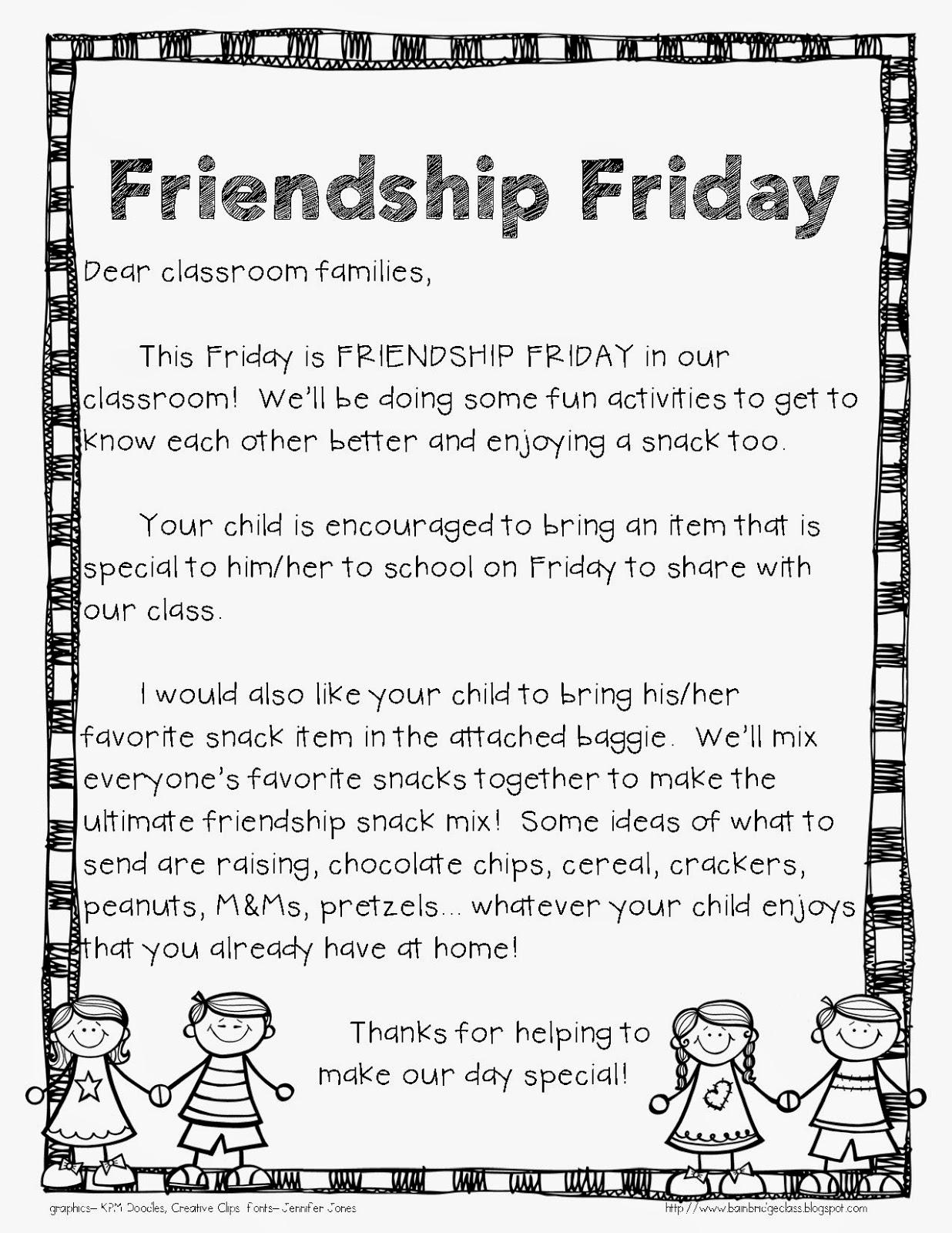 Welcome To The Uni Corner Friendship Friday Fun Idea