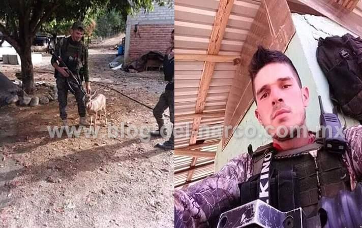 """Fotografías: El es Ángel Omar Cazares Godínez """"El Sello Rojo"""" el Jefe del CJNG que emboscó y mató a los Marinos en Chinicuila; Michoacán"""