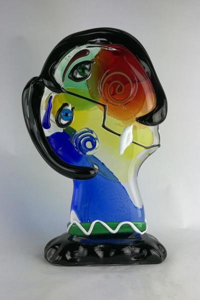 scultura-picasso-in-vetro-di-murano-shopping