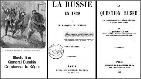 Comtesse de Ségur, Marquis de Custine, Léouzon Le Duc, Russophobia