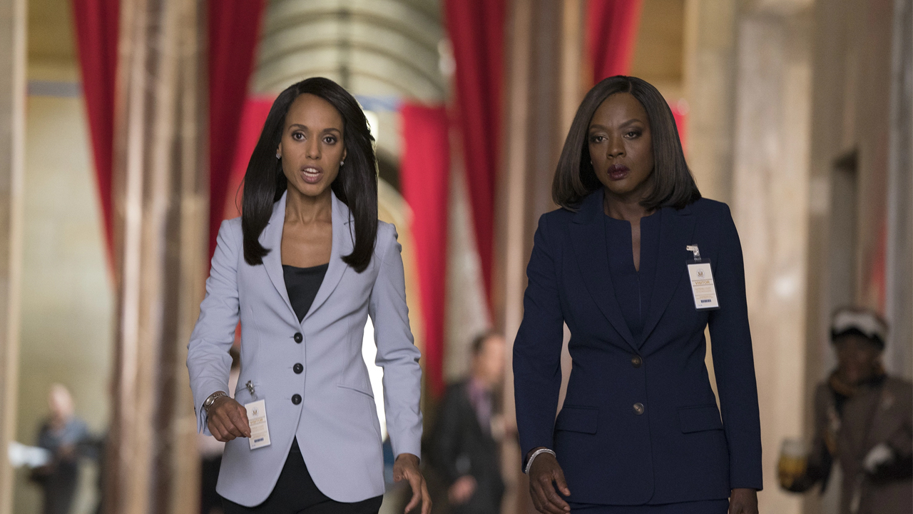 Fotografía de Kerry Washington y Viola Davis en 'How to Get Away with Murder'