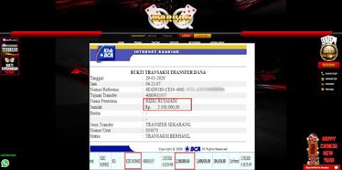 Selamat Kepada Member Setia WARUNGQQ Withdraw RP 2.500.000