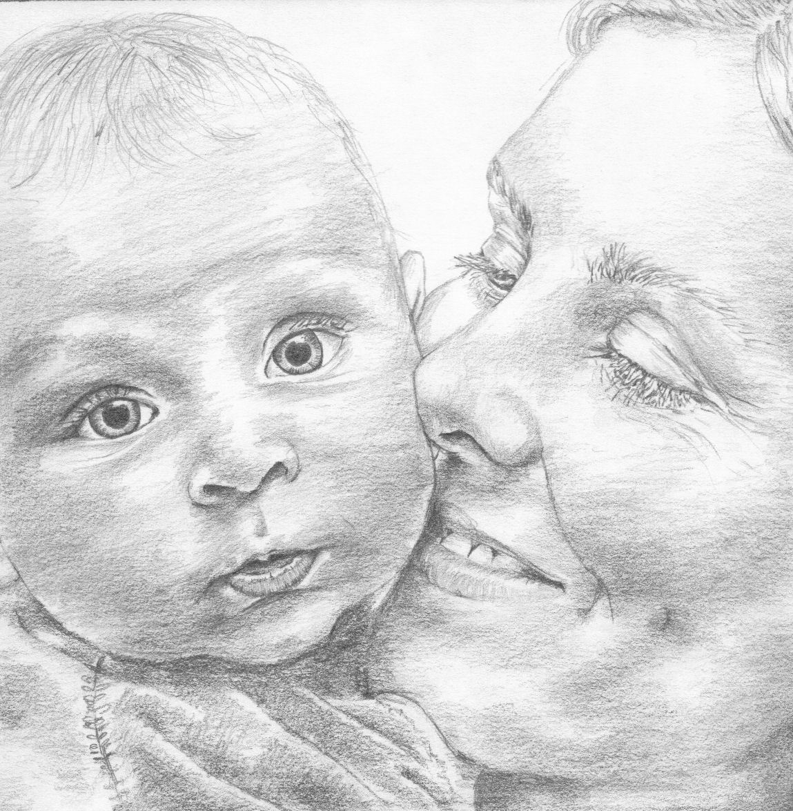 sketched in memory: Mother and Child