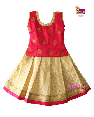 kids traditional pattu pavadai langa online
