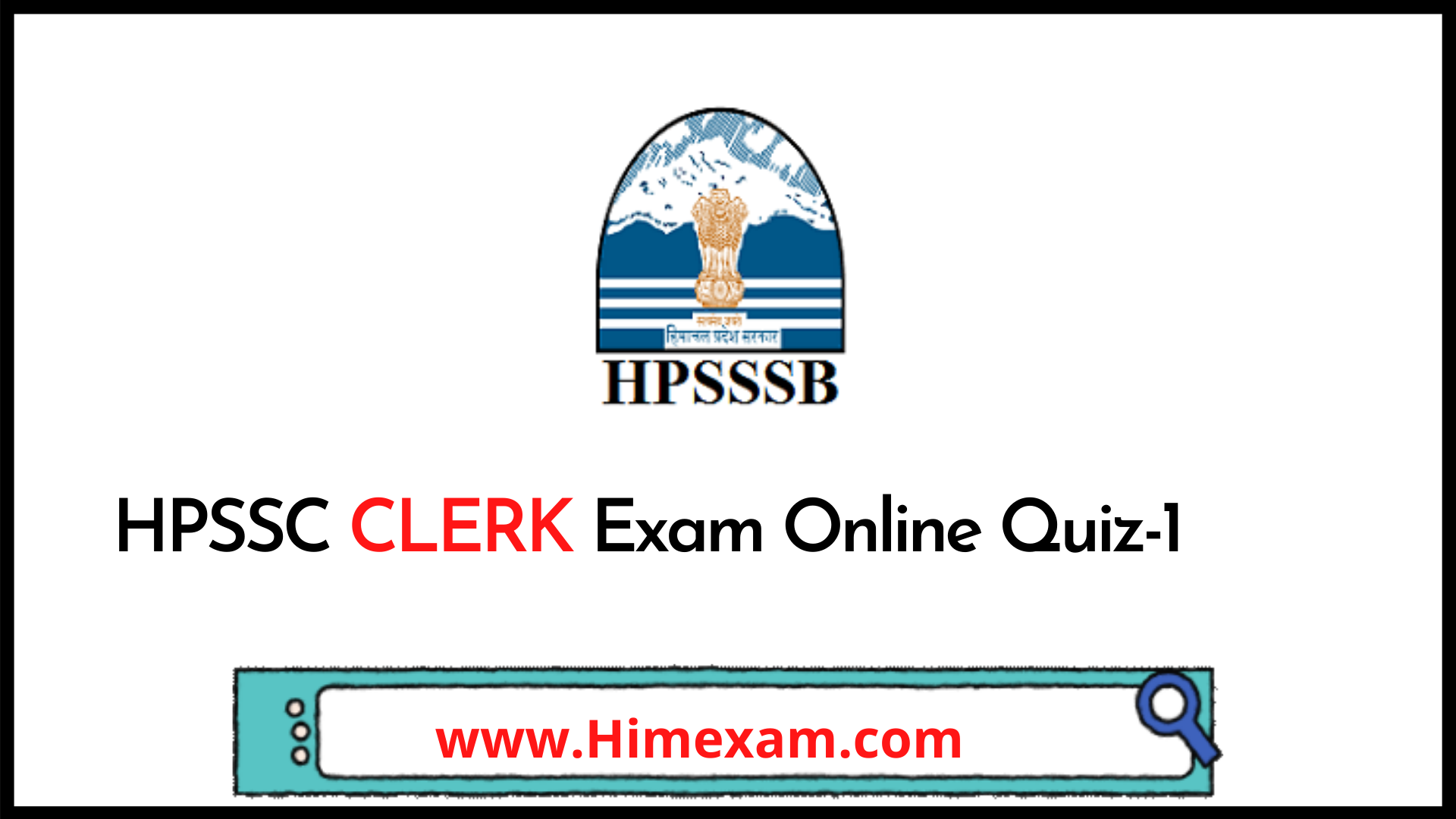 HPSSC Clerk Exam Online Quiz-1