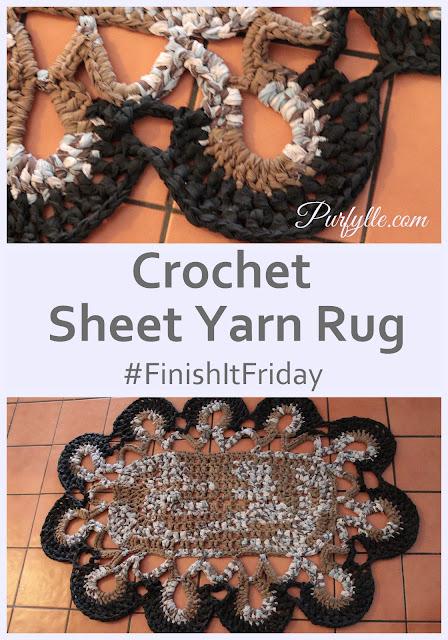 Sheet Yarn Rug #FinishItFriday