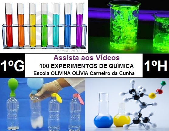 Experimentos de Química dos alunos (1º G e H) da Escola Olivina Olívia Carneiro da Cunha