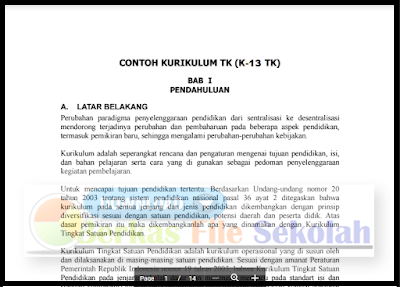 Download Contoh Dokumen 1 Kurikulum 2013 PAUD | TK | RA | KB | TPA 2018