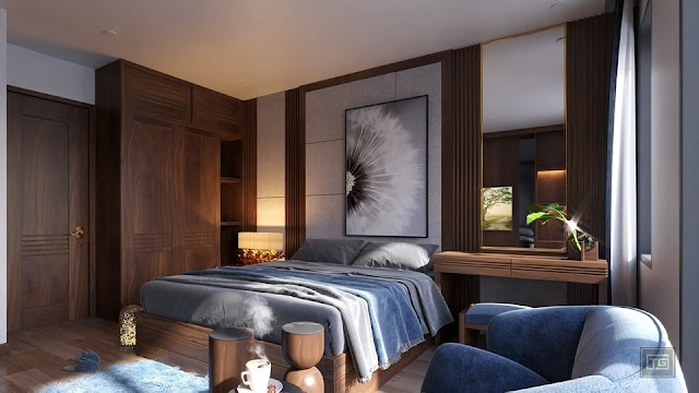 Interior Bedroom Scene Sketchup Model
