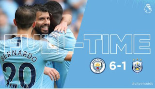 Manchester City vs Huddersfield Town 6-1 Video Gol Highlights