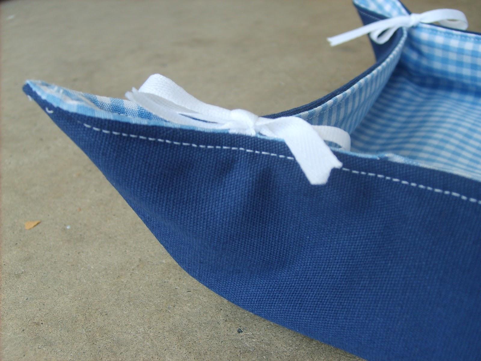 Reversible Fabric Basket Tutorial