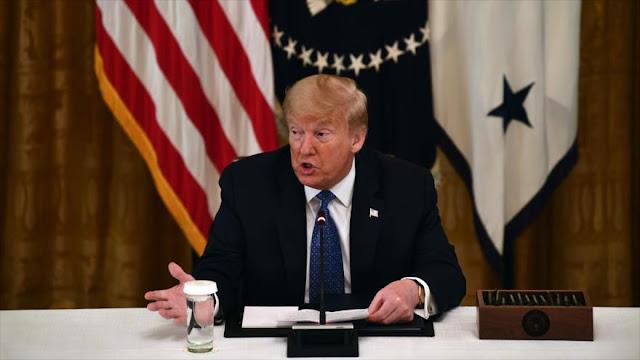 """Para Trump es un """"honor"""" que EEUU lidere contagio de COVID-19"""