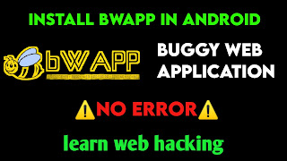 Install bWAPP in android