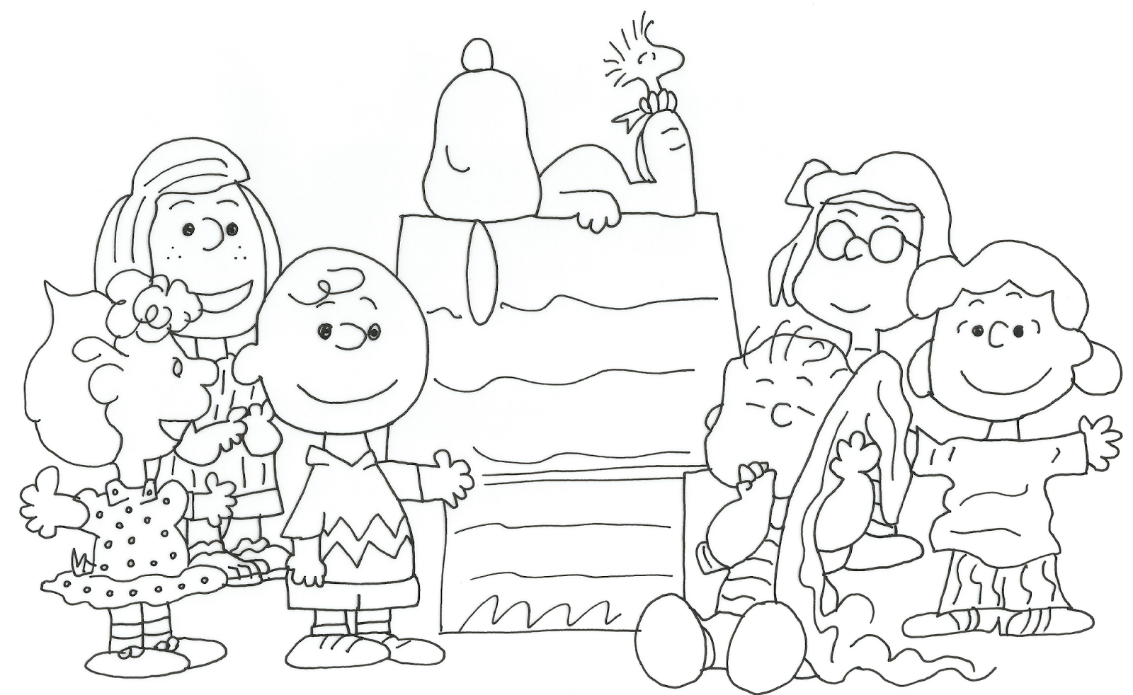 penuts coloring pages - photo#25