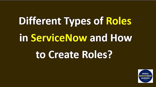 roles servicenow,servicenow roles,roles in servicenow,types of role in servicenow