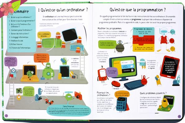 Découvrons ensemble : Ordinateurs et programmation - éditions Usborne