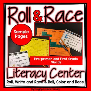 PrePrimer and First Grade Words Literacy Center