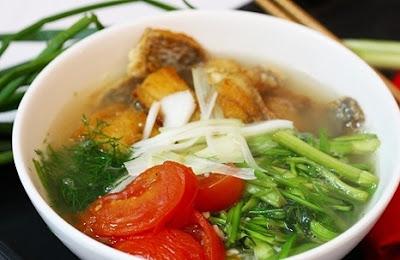 Cách chế biến món ăn cho người giảm cân – Món canh cá rau cần