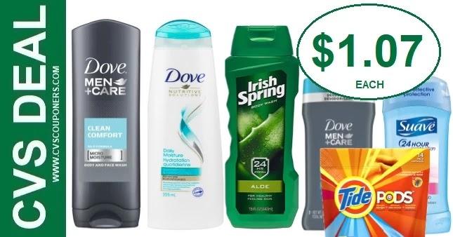 Dove, Irish Spring, & Tide CVS Deals