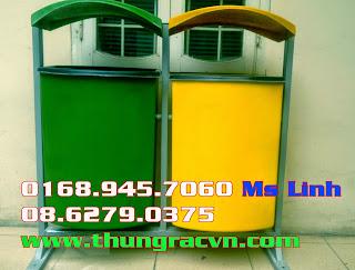 Chuyên sản xuất thùng rác composite giá tốt tại Hồ Chí Minh call 0908. 204. 096 Ms