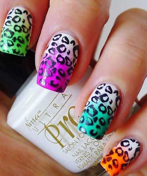 Leopard Variation Nail Art Design