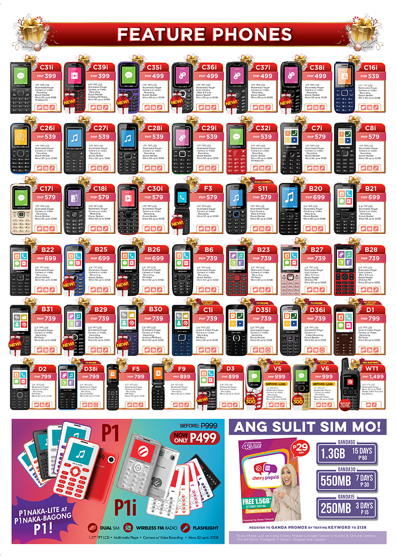 Cherry Mobile feature phones!