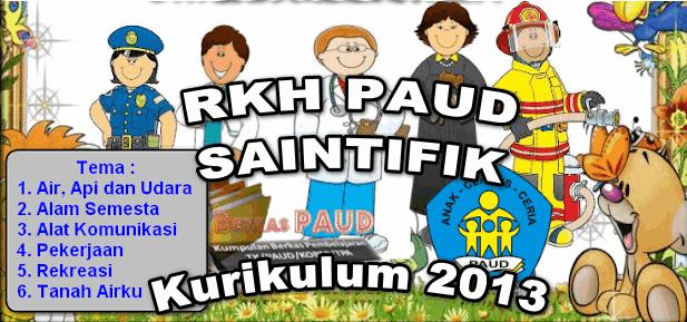 4 Contoh RKH PAUD Pendekatan Saintifik Kurikulum 2013