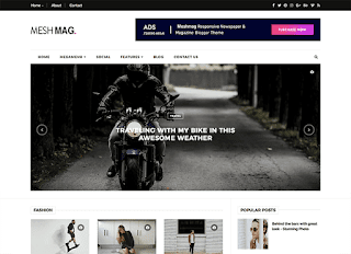 MeshMag Responsive Blogger Template