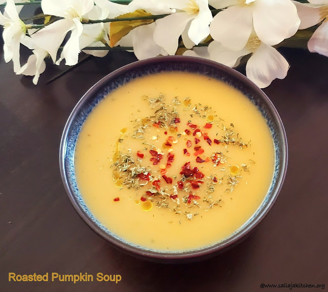 images of Roasted Pumpkin Soup / Roasted Yellow Pumpkin Soup / Pumpkin Soup