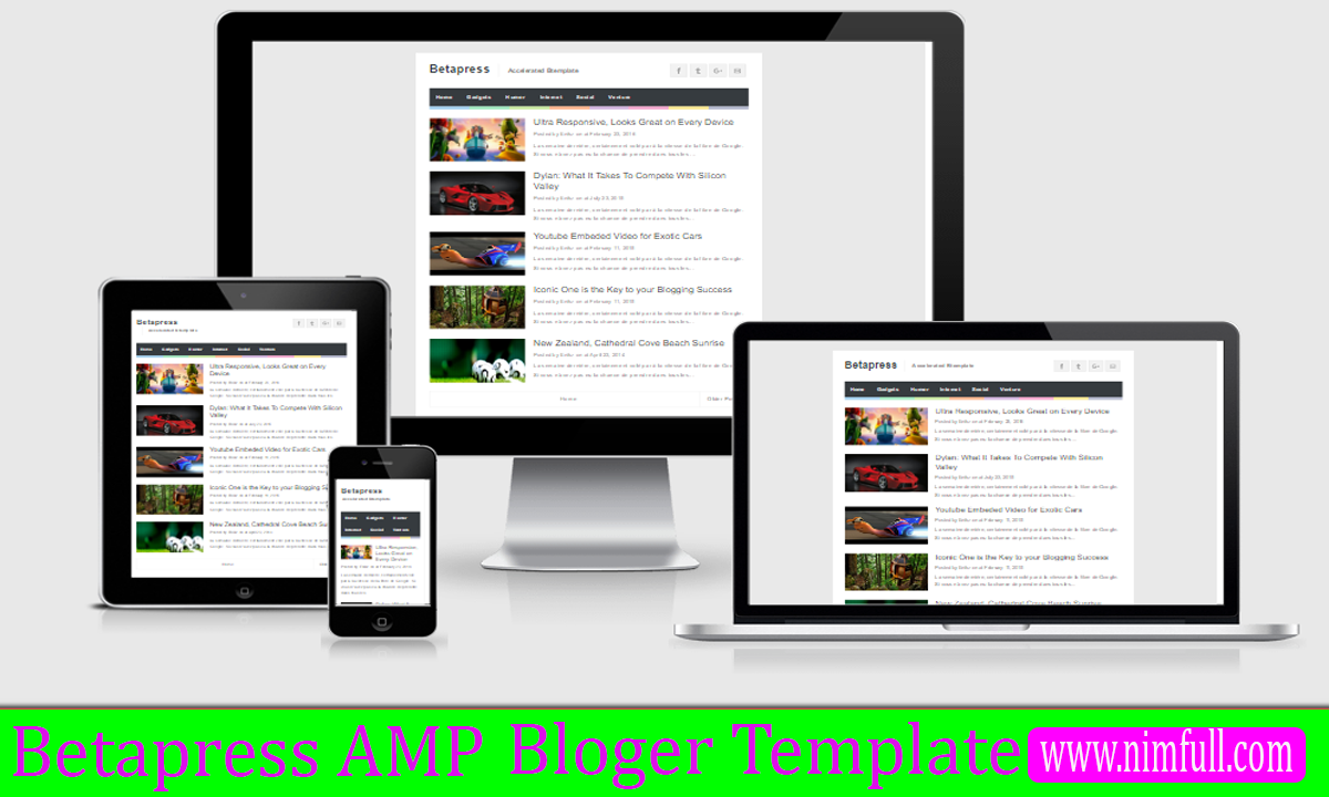 Beta-Press AMP Responsive SEO Free Premium Blogger Template ...