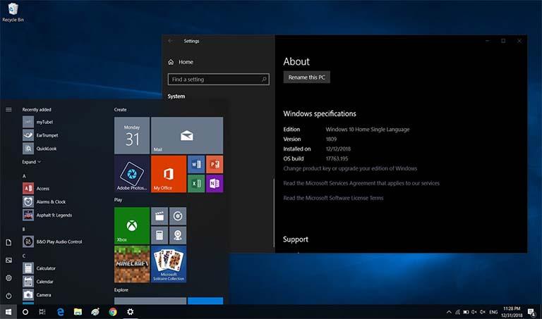Pembaruan Windows 10 Build 17763.615 Sudah Tersedia Untuk Didownload