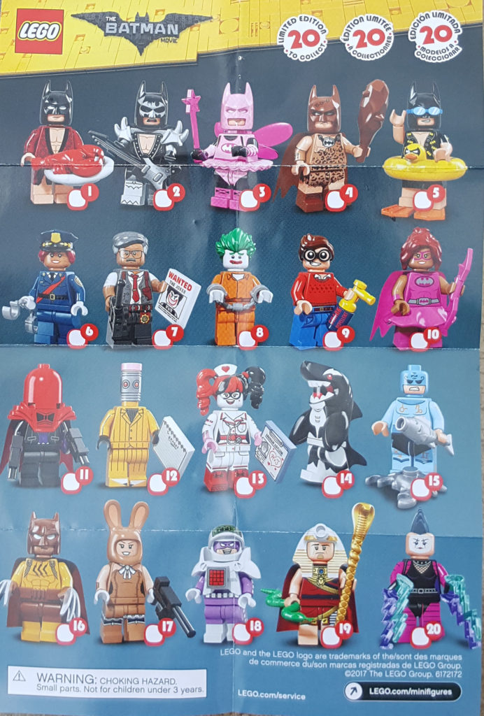 The Minifigure Collector: Lego Minifigure Series 1 -17, Ninjago ...