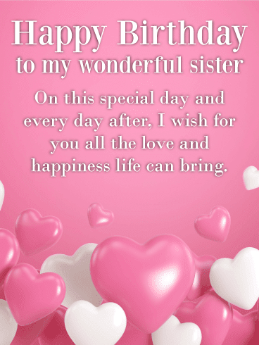 Happy Birthday To My Sweet Sister!