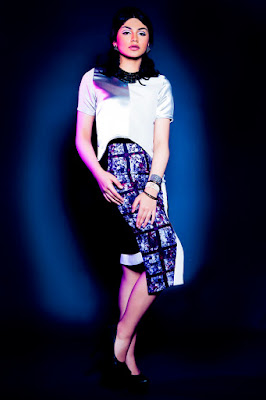 Jihane Almira Chedid Model Cantik warna silver