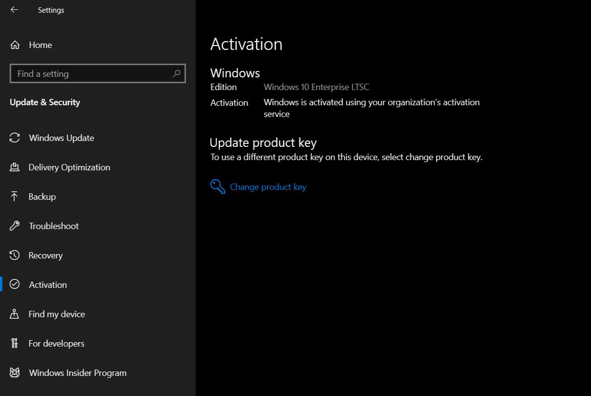 Windows 10 Enterprise 2019 LTSC - Phiên bản