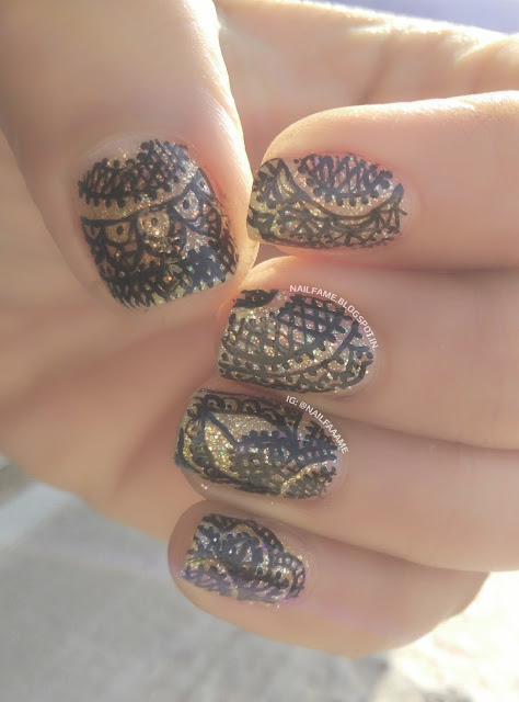 HANDPAINTED LACE NAILART