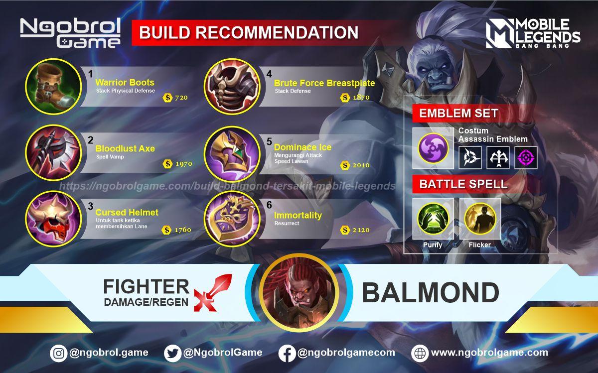 Build Balmond Top Global Tersakit Mobile Legends