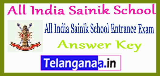 All India Sainik School Entrance 2019 Answer Key Result